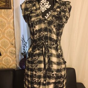 Guess Button down dress mid length